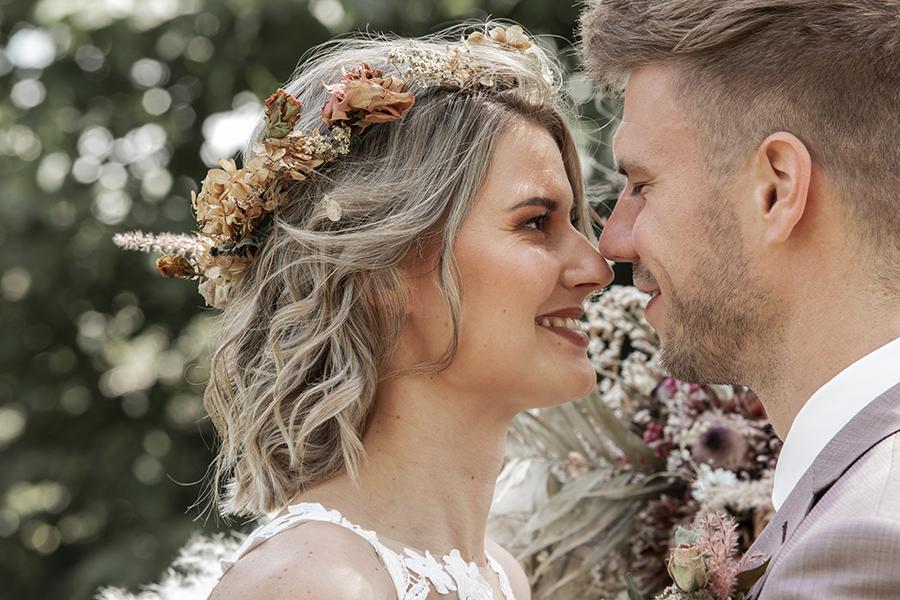 Bruid tijdens het ja-woord