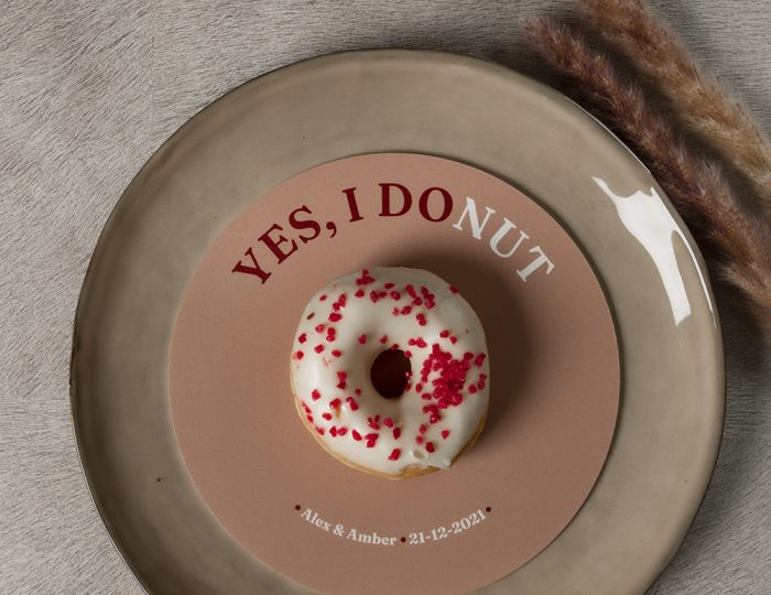 Gepersonaliseerde donut bordjes